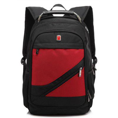 Buy RED Metallic Nylon Zippers Backpack for $32.35 in GearBest store