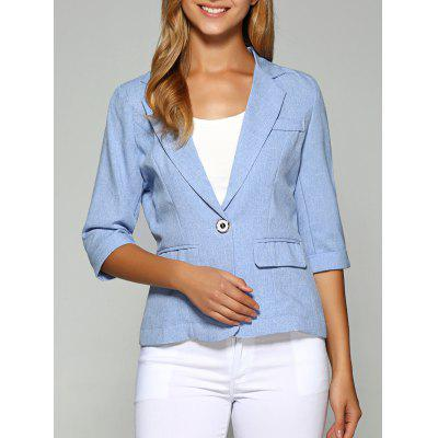 Lapel One Button dimagrante Plain Blazer