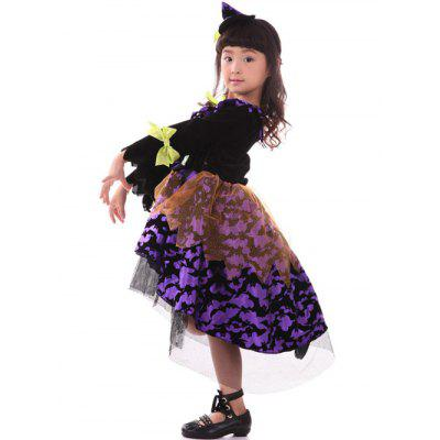Kids Midi Halloween Witch Cosplay DressGirls Clothing<br>Kids Midi Halloween Witch Cosplay Dress<br><br>Dresses Length: Mid-Calf<br>Material: Polyester<br>Neckline: Round Collar<br>Package Contents: 1 x Dress<br>Pattern Type: Patchwork<br>Season: Fall, Spring<br>Silhouette: Asymmetrical<br>Sleeve Length: Long Sleeves<br>Style: Novelty<br>Weight: 0.390kg<br>With Belt: No