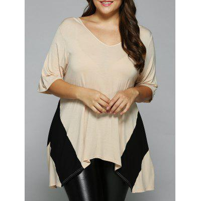 Plus Size Asymmetrical Blouse