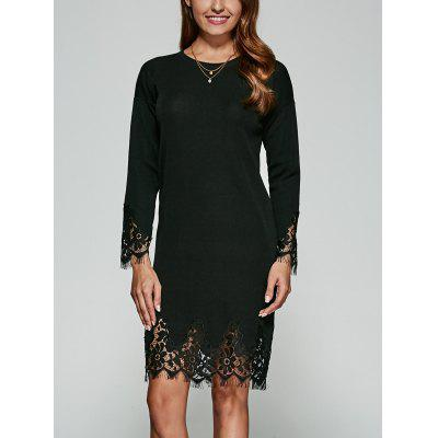 Guipure Lace Knitted Dress