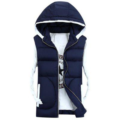 Cappuccio addensare Zip-Up Down Gilet