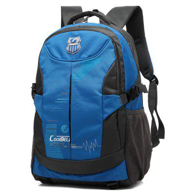 Buy BLUE Nylon Color Spliced Zippers Backpack for $14.58 in GearBest store