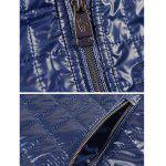 Geometric Zip Up Padded Jacket ODM Designer - PURPLISH BLUE