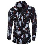 Multi-Pocket Zip Up Camouflage-Mantel - ROT
