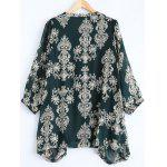cheap Plus Size Paisley Printed Asymmetric Blouse