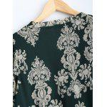Plus Size Paisley Printed Asymmetric Blouse for sale