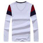 best Striped V Neck Long Sleeve T-Shirt
