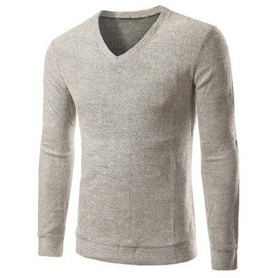 V-cou à manches longues Knitting Sweater