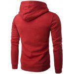 cheap Kangaroo Pocket Drawstring Plain Hoodie