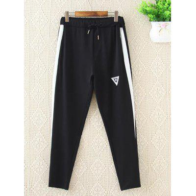 Drawstring Side Stripe Jogging Pants