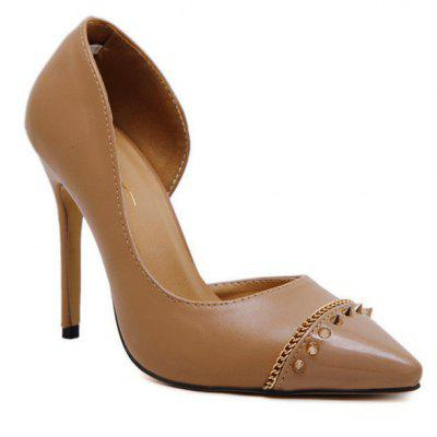 Super High Heel Point Toe Rivet Pumps