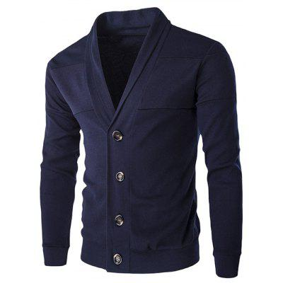 Buy CADETBLUE Slim-Fit Shawl Collar Button Up Cardigan for $19.63 in GearBest store