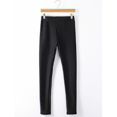 Plus Size Fleece Elastic Waist Leggings