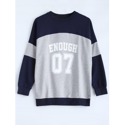Color Block Enough 07 Sweatshirt