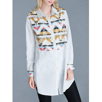 Long Loose Print Shirt