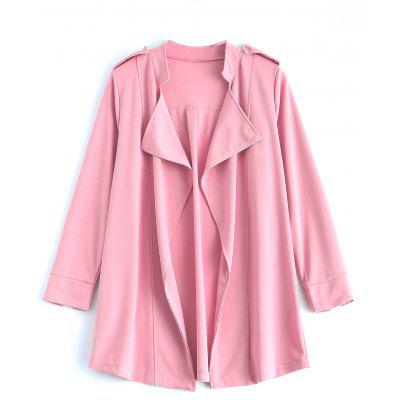 Buy PINK Drape Front Epaulet Trench Coat for $29.41 in GearBest store