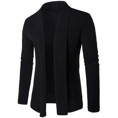 Slim Shawl Collar Long Cardigan