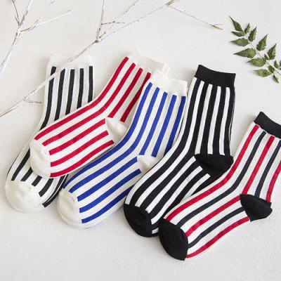 One Set Vertical Stripes Socks