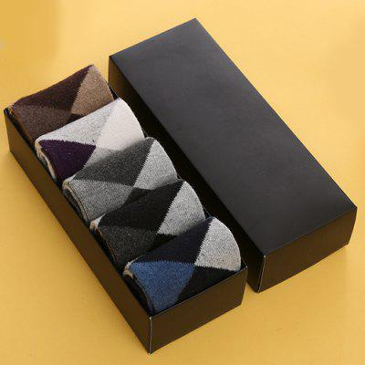 One Set Prismatic Pattern Color Block Socks