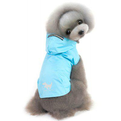 Hooded Raincoat Puppy Clothes