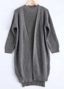 Ribbed Knitted Dress + Loose-Fitting Cardigan Twinset