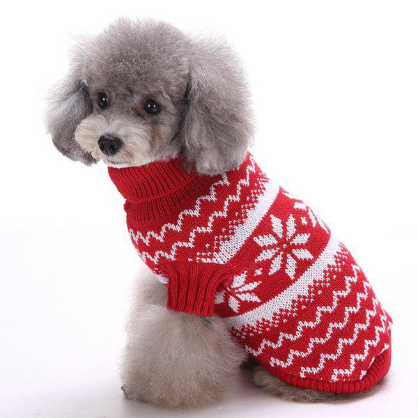 Knitting Snows Wave Sweater Winter Warm Christmas Puppy Clothes