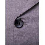 Lapel Collar Double Breasted Waistcoat - GRAY