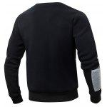 cheap Striped Rib Spliced Round Collar Fleeces Sweatshirt