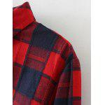 Plus Size Slit Long Sleeve Checkered Plaid Shirt deal