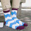 One Set Wave Pattern Casual Jacquard Socks - COLORMIX
