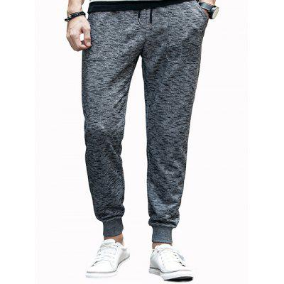 Cotton Blends Lace-Up Beam Feet Jogger Pants