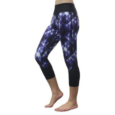 Capri Printed Skinny Yoga Leggings