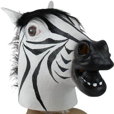 Creative Zebra Head Mask Halloween Supply Cosplay Prop