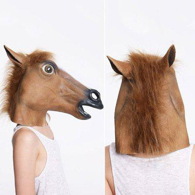 Halloween Party Cospaly Fur Mane Horse Head Mask
