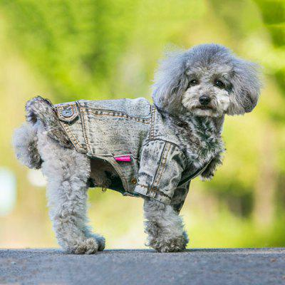 Antumn Winter Warm Pet Dog Jeans Jacket Clothes