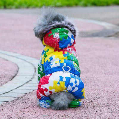 Colorful Thickness Pet Dog Jacket Hoody Clothes