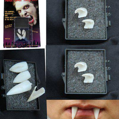 Buy WHITE Halloween Party Supplies Gothic Vampire 4PCS Teeth Cosplay Prop for $3.02 in GearBest store