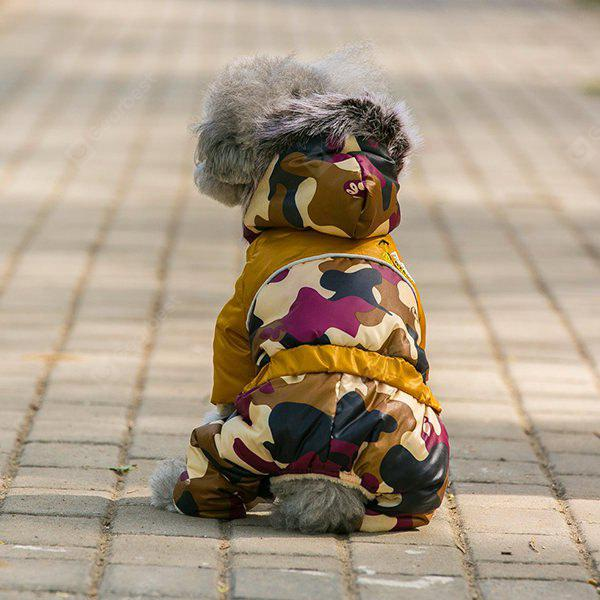 Warm  Pet Dog Camouflage Jacket Hoody Clothes
