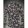 Buy Floral Geometric Trophy Printed Plus Size Shirt 7XL GOLDEN