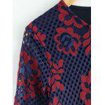 Plus Size Flower Print Lace Blouse deal