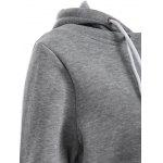 Pullover Drawstring Color Block Hoodie deal