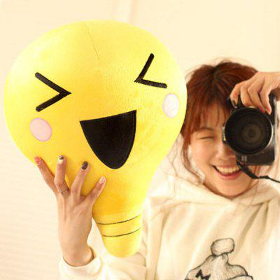 Cartoon Emoji Bulb Shape Plush Toy
