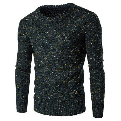 Buy BLACKISH GREEN M Crew Neck Colorful Kink Design Long Sleeve Sweater for $14.47 in GearBest store