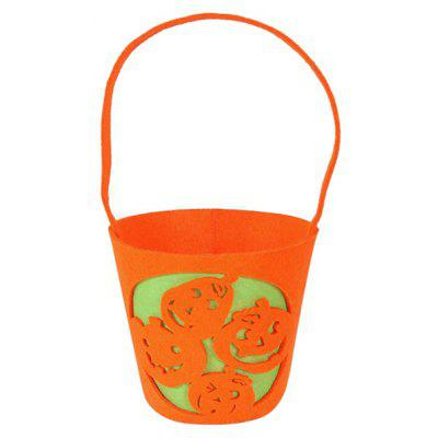 Halloween Bucket Shaped Pumpkin Handbag
