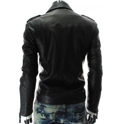Stand Collar PU-Leather Zipper Epaulet Long Sleeve Jacket For MenMens Jackets &amp; Coats<br>Stand Collar PU-Leather Zipper Epaulet Long Sleeve Jacket For Men<br><br>Clothes Type: Leather &amp; Suede<br>Collar: Turn-down Collar<br>Material: Faux Leather<br>Package Contents: 1 x Jacket<br>Season: Fall, Spring<br>Shirt Length: Regular<br>Sleeve Length: Long Sleeves<br>Style: Fashion<br>Weight: 0.791kg