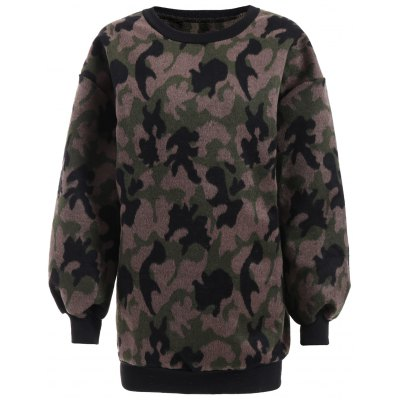 Buy CAMOUFLAGE Thicken Camo Pullover Sweatshirt for $28.66 in GearBest store