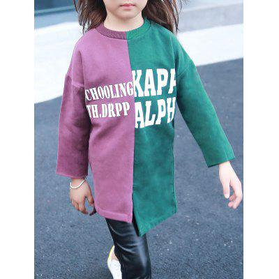 Color Block Letter Printed Sweatshirt