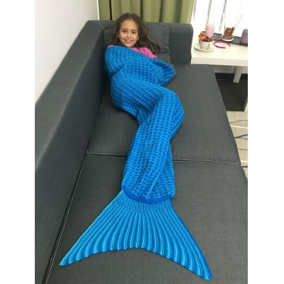 Acrylic Knitted Mermaid Tail Blanket