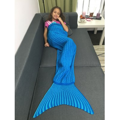 Warmth Geometric Design Knitted Kids Mermaid Tail BlanketBlanksts&amp; Throws<br>Warmth Geometric Design Knitted Kids Mermaid Tail Blanket<br><br>Material: Acrylic<br>Package Contents: 1 x Blanket<br>Pattern Type: Stripe<br>Size(L*W)(CM): 150*80CM<br>Type: Knitted<br>Weight: 0.684kg